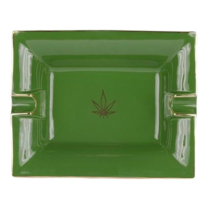 Casacarta Green Leaf Large Trinket Tray / Ashtray For Sale