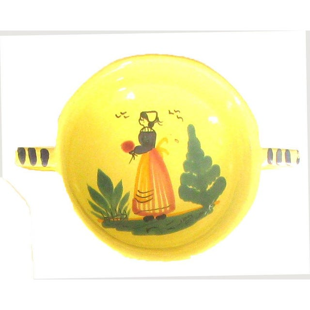 French Vintage French Yellow Quimper Collection, Set of 3 For Sale - Image 3 of 8