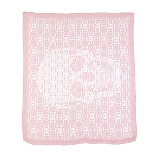 Alexander McQueen Classic Silk Chiffon Oversized Scarf in Blush Color For Sale