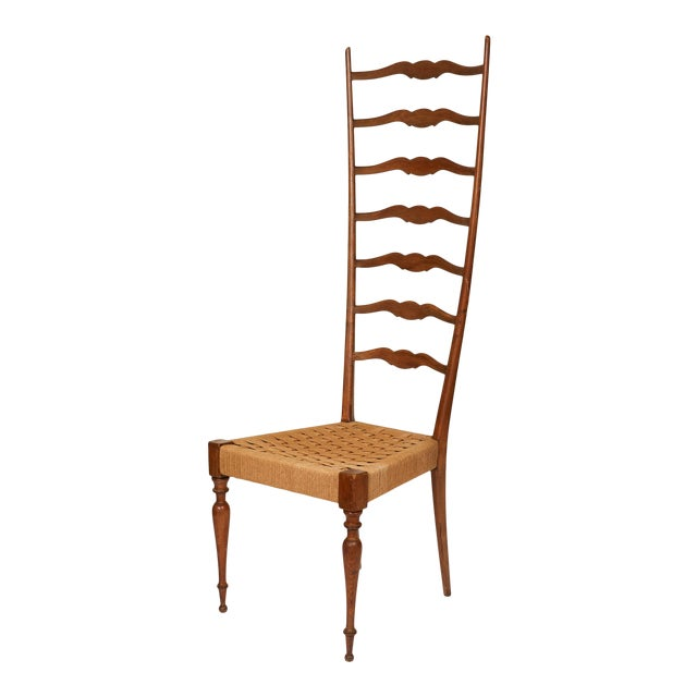 Italian Tall Ladderback Chiavari Chair For Sale