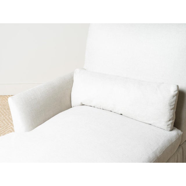 Lee Industries New Upholstered Ridge Chaise For Sale - Image 4 of 8