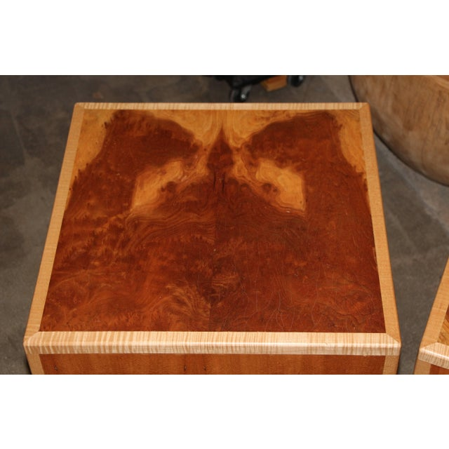 """1990s Joseph Kelly Custom Made """"Rorshach Bunching"""" Tables- A Pair For Sale - Image 5 of 10"""