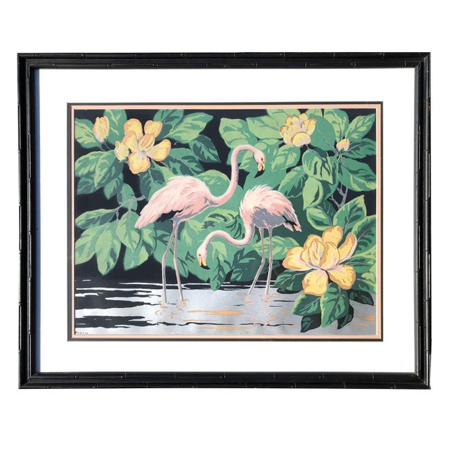 1940s 1940s Old Florida Flamingo Print by Hemia Calpini For Sale - Image 5 of 5