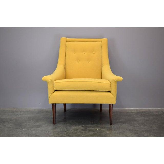 Refurbished Mid-Century Lounge Chair in Maharam Kvadrat Voyage - Image 3 of 7