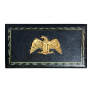 Admiral Eagle Black Valet Box With Brass Eagle For Sale