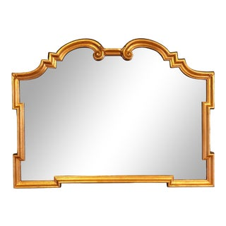 1960s Vintage La Barge Italian Hollywood Regency Gold Gilt Mirror For Sale