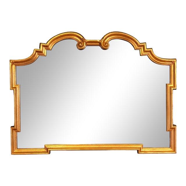 1960s Vintage La Barge Italian Hollywood Regency Gold Gilt Mirror For Sale
