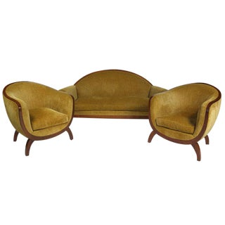 Lucie Renaudot Sofa and Chairs, c. 1920s