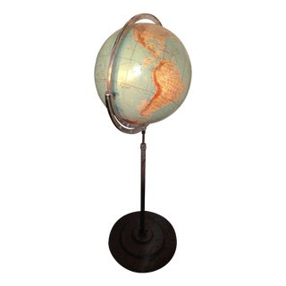 Vintage Globe on Pedestal For Sale