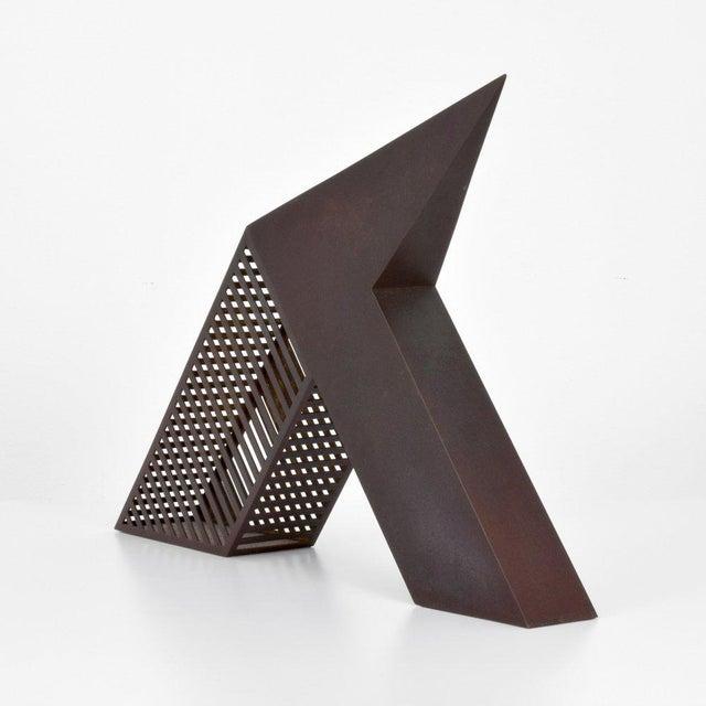 Bronze Modern Minimalist Desk Sculpture by John Raimondi For Sale - Image 8 of 8