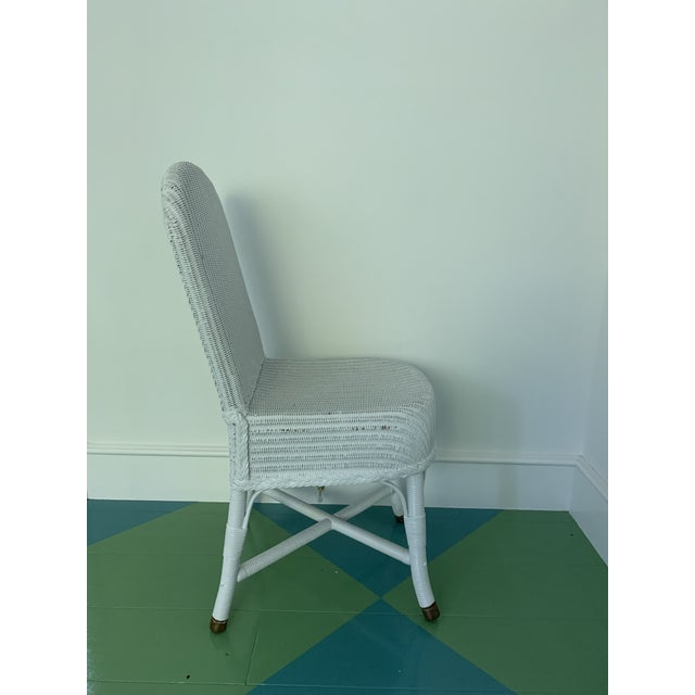 Vintage Lloyd Loom English Wicker Chairs - a Pair For Sale In Los Angeles - Image 6 of 8