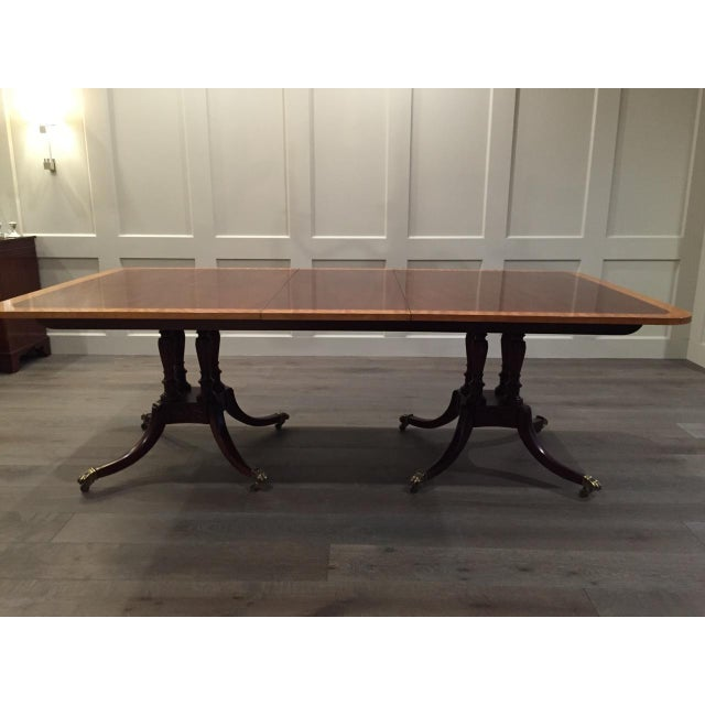 Baker Double Pedestal Mahogany Dining Table - Image 2 of 7
