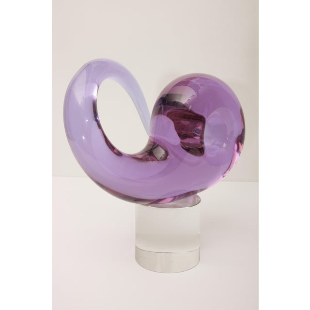 Mid 20th Century Mid-Century Seguso Murano Glass Sculpture For Sale - Image 5 of 10