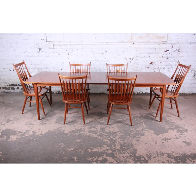 Kipp Stewart for Drexel Declaration Mid-Century Modern Walnut Dining Set For Sale - Image 13 of 13