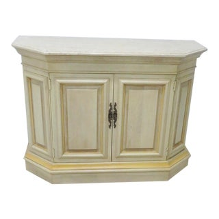 Ethan Allen Cream Painted Marbletop Credenza