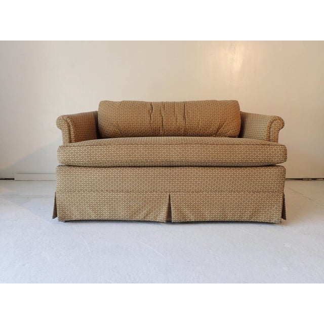 Low-Back Upholstered Mahogany Frame Settee - Image 2 of 6