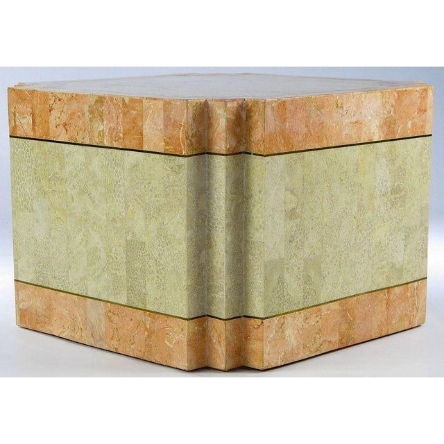 1970s Casa Bique Tessellated Fossil Stone & Marble Coffee Table For Sale - Image 5 of 6