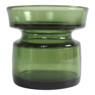 Vintage Green Glass Dansk Candle Holder