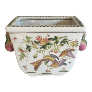 Chinoiserie Botanical Jardiniere For Sale