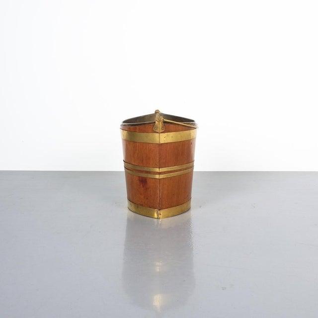 Irish 19th Century Oval Oak Brass Peat Bucket For Sale - Image 4 of 8