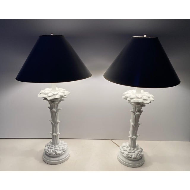 Serge Roche Style Palm Motife Table Lamps For Sale - Image 12 of 12