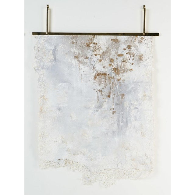 2010s Japanese Lace Mixed Media on Canvas by Jane Lorentsen For Sale - Image 5 of 5