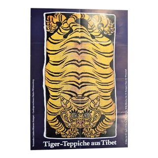 "Final Markdown Vintage ""Tigers From Tibet"" German Exhibition Art Poster"