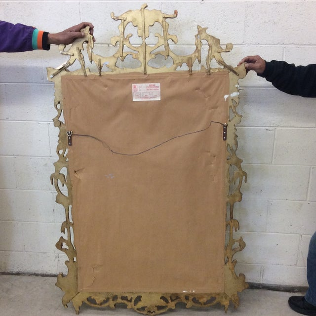 Large Silver and Gold Leaf Mirror For Sale - Image 9 of 13