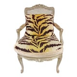 Image of Antique French Bergere Chair For Sale