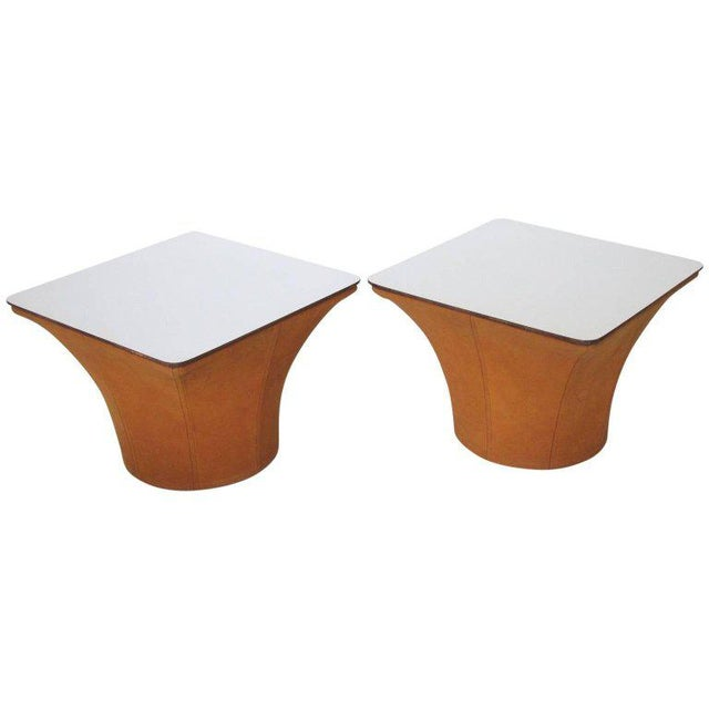 Pierre Paulin Style Mid-Century Modern Mushroom Side Tables - a Pair For Sale - Image 11 of 11