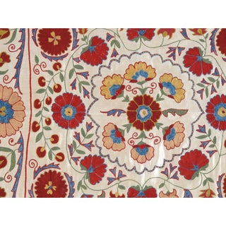 20th Century Asian Suzani Textile Rug - 3′3″ × 3′4″ Preview