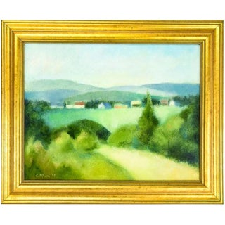 C. Albom Post Impressionist Landscape Oil Painting For Sale