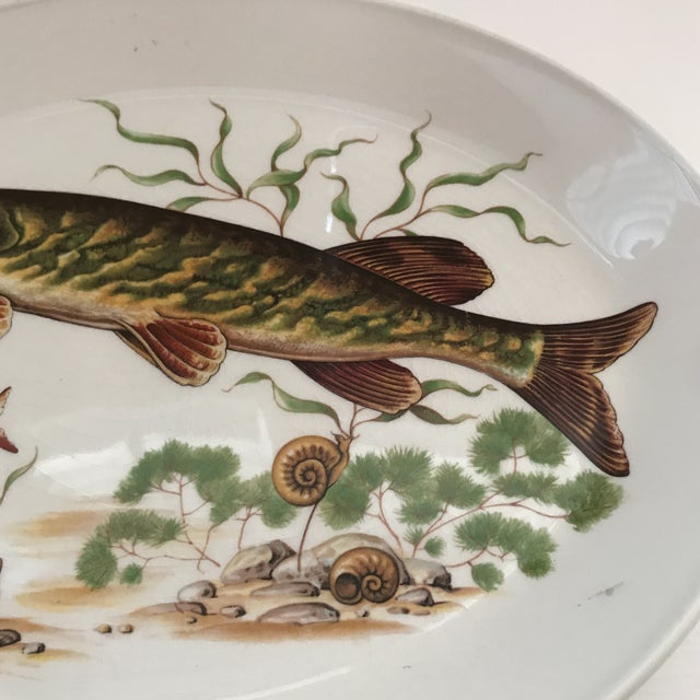 Country 1970s Vintage Johnson Brothers Ironstone Fish/ Stugeon Platter For Sale - Image 3 of 12