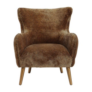 Wing Back Leopard Lounge Chair Preview