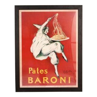 """Pâtes Baroni""Lithograph Poster"