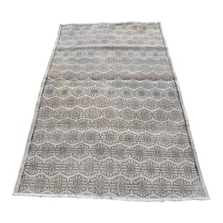Vintage Turkish Anatolian Natural Dye Hand Knotted Wool Rug - 3′6″ × 6′3″ For Sale