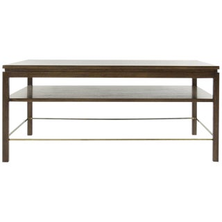 Edward Wormley for Dunbar Brass Stretcher Coffee Table, 1950s For Sale