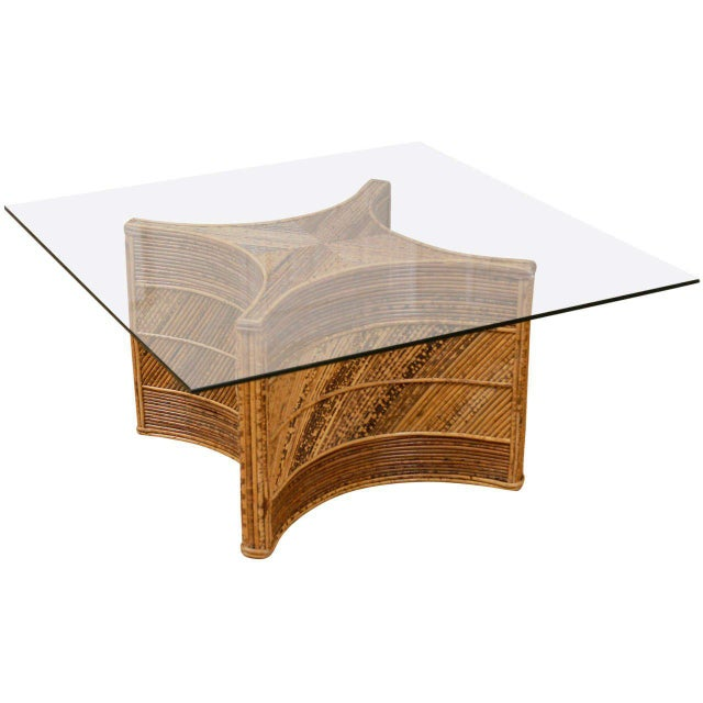 Elegant Vintage Bamboo Coffee Table For Sale - Image 11 of 11