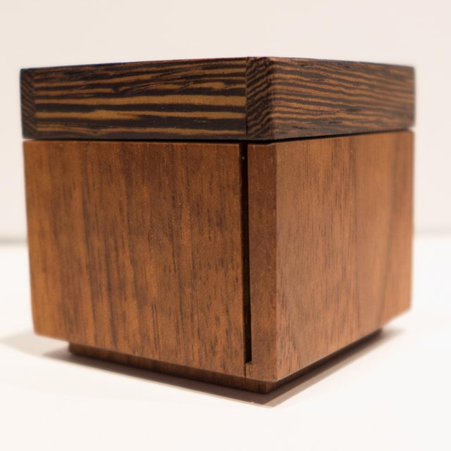 Ebony Robert McKeown Stamp Box with Stripes For Sale - Image 7 of 8