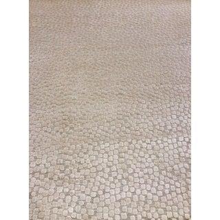 Thom Filicia for Kravet Flurries White and Cream Cut Velvet Fabric - 3 Yards For Sale