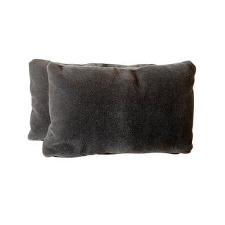 Kravet Mohair & Belgian Linen Lumbar Pillow Covers - A Pair
