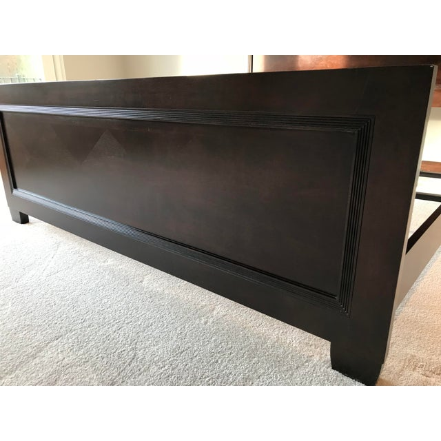 Lexington Nautica Dark Wood King Bed Frame For Sale - Image 9 of 10