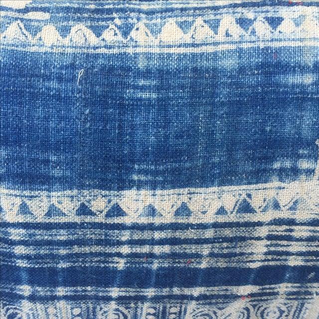 Blue & White Batik Cotton Pillows - Pair - Image 3 of 5