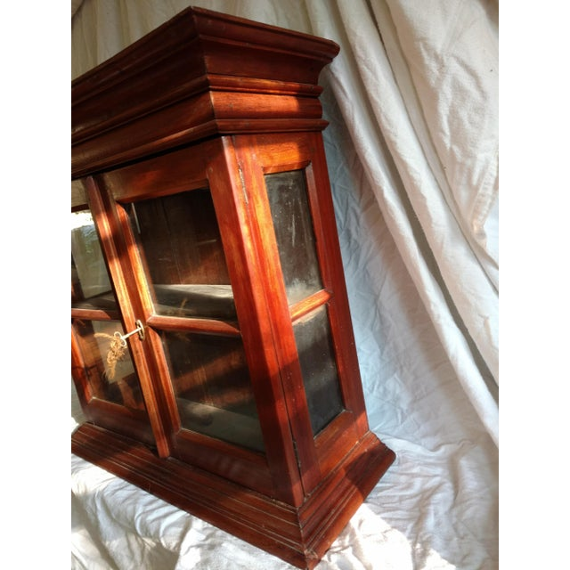 Rosewood 1920s Hand Carved Rosewood Table Top Cabinet For Sale - Image 7 of 8