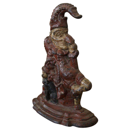 Superb Painted Cast Iron Door Stop Depicting Punch And His Dog, Toby |  DECASO