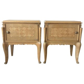 Italian Baroque Revival Style Nightstands / Side Tables - A Pair