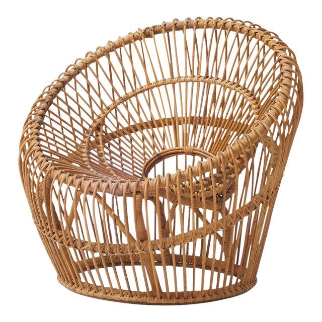 Franco albini rattan chair For Sale