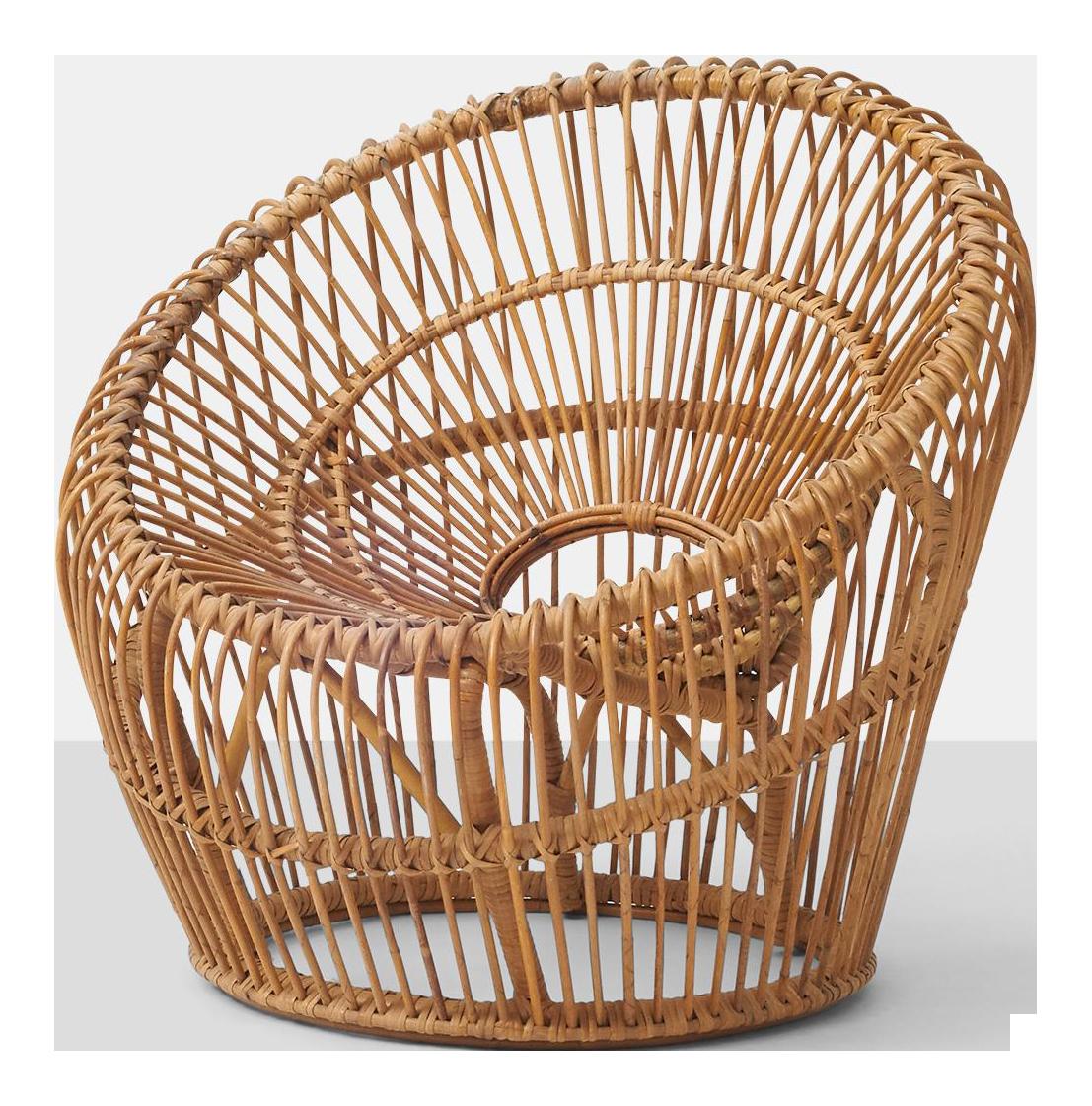 Genial Franco Albini Rattan Chair   Image 1 Of 6