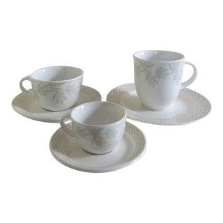 Villeroy & Boch Janda White Premium Porcelain Cups & Saucers - Set of 6