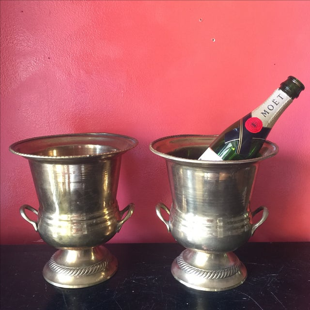 Petite Brass Champagne Buckets - A Pair - Image 6 of 6